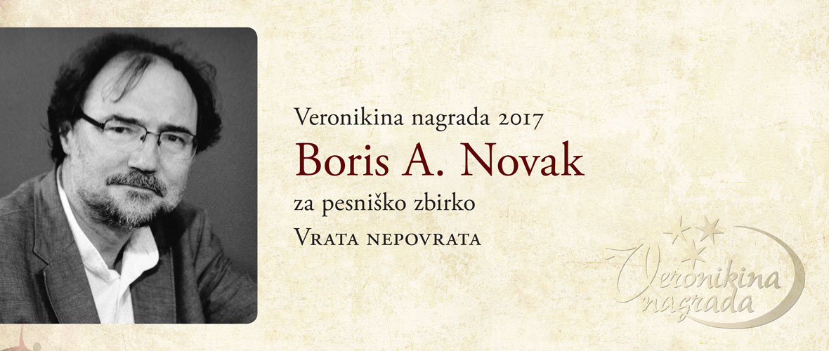 Veronikina nagrada 2016 Boris A. Novak